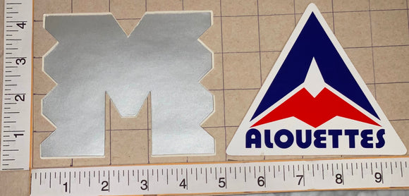 2 MONTREAL ALOUETTES CFL FOOTBALL AUTOMOBILE AUTO DECAL LOT