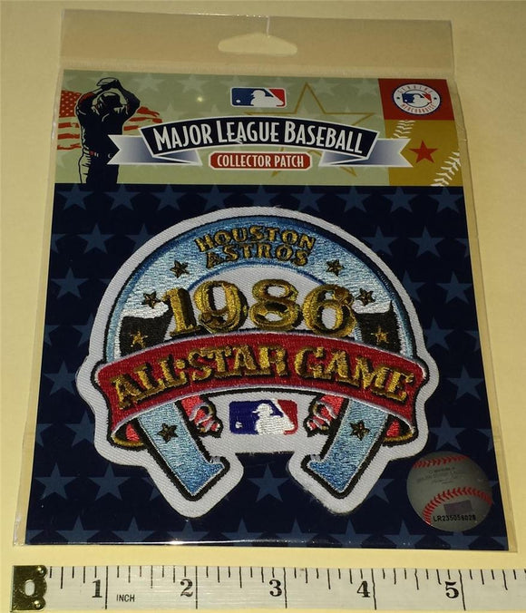 1986 OFFICIAL ALL STAR GAME HOUSTON ASTROS MLB BASEBALL EMBLEM PATCH MIP