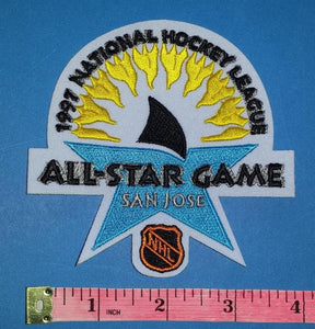 1997 SAN JOSE SHARKS ALL STAR GAME NHL HOCKEY BADGE CREST PATCH