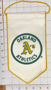 "OAKLAND ATHLETICS MLB BASEBALL OFFICIALLY LICENSED 10"" PENNANT RAYON BANNER"