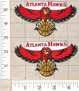 2 ATLANTA HAWKS NBA BASKETBALL CREST EMBLEM PATCH LOT