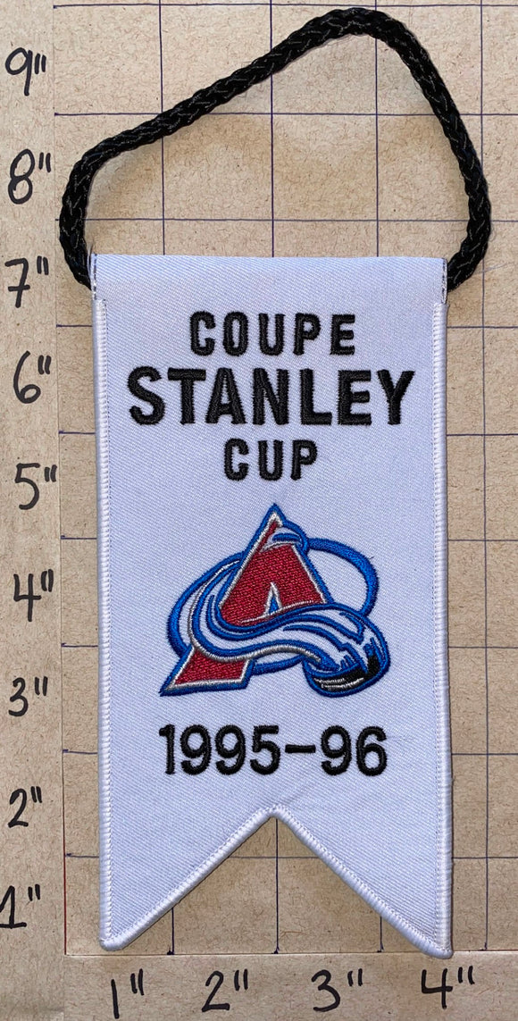 COLORADO AVALANCHE 1995 - 1996 STANLEY CUP CHAMPIONS BANNER NHL HOCKEY