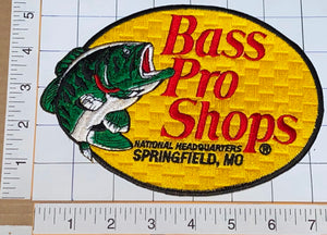 1 BASS PRO SHOPS FISH FISHING CASTING REELS SPRINGFIELD CREST EMBLEM PATCH