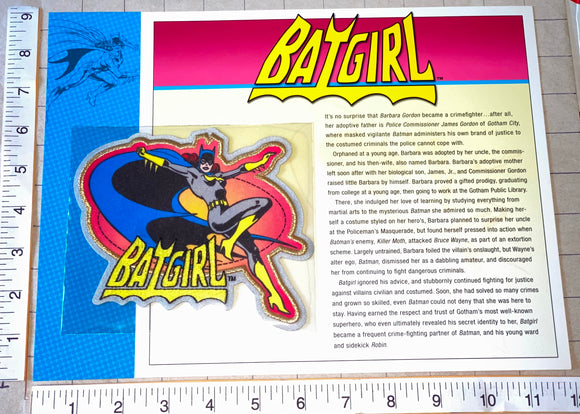 BATGIRL SUPERHEROINE CRIME FIGHTER DC COMICS GOTHAM CITY WILLABEE & WARD PATCH