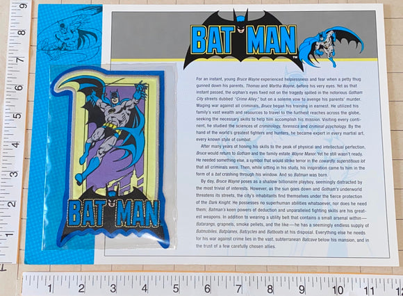 BATMAN SUPERHERO CRIME FIGHTER DC COMICS GOTHAM CITY WILLABEE & WARD PATCH