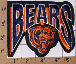 "CHICAGO BEARS NFL FOOTBALL 5"" SHIELD logo PATCH"