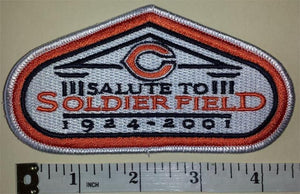 CHICAGO BEARS COMMEMORATE A SOLUTE TO SOLDIER FIELD NFL FOOTBALL PATCH