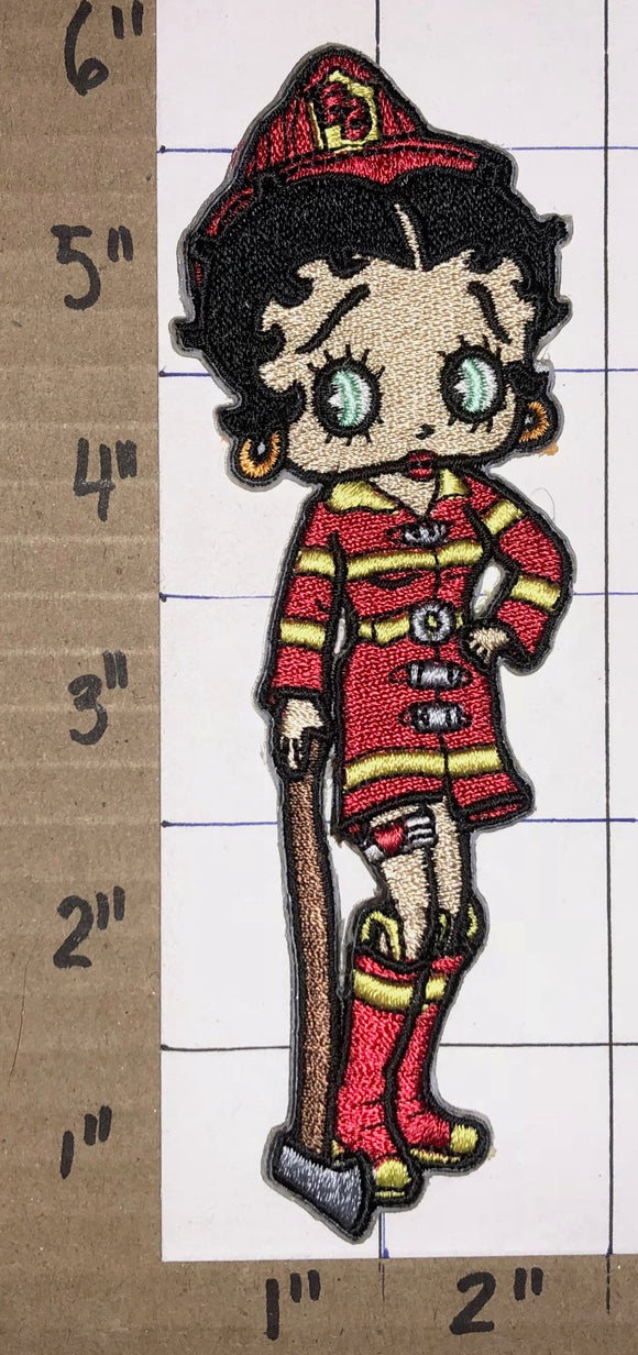 1 BETTY BOOP FIREMAN ANIMATED CARTOON CHARACTER TALKARTOON MUSIC PATCH