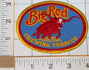 1 VINTAGE BIG RED CHEWING TABACCO CREST EMBLEM PATCH