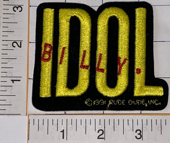 BILLY IDOL ENGLISH ROCK SINGER SONGWRITER CONCERT CREST EMBLEM PATCH