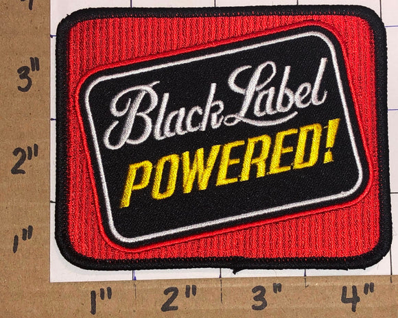 1 BLACK LABEL POWERED BEER BREWERY CREST PATCH