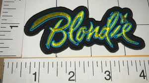 BLONDIE AMERICAN ROCK MUSIC CONCERT BAND PATCH DEBBIE HARRY