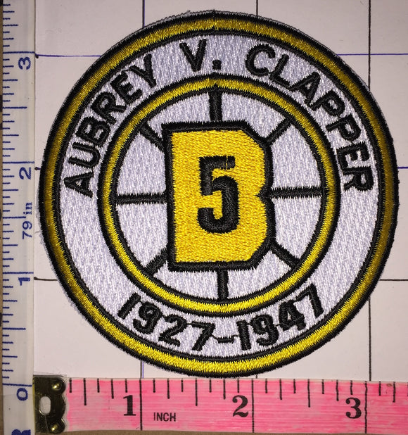 BOSTON BRUINS AUBREY CLAPPER #5 RETIREMENT 1927-1947 NHL HOCKEY EMBLEM PATCH