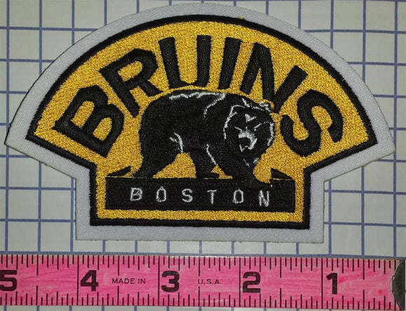 BOSTON BRUINS NHL HOCKEY 4 INCH BEAR EMBLEM SHOULDER PATCH