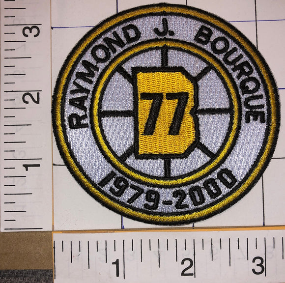 BOSTON BRUINS RAYMOND BOURQUE #77 RETIREMENT 1979-2000 NHL HOCKEY EMBLEM PATCH