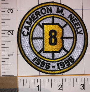 BOSTON BRUINS CAM NEELY #8 RETIREMENT 1986-1996 NHL HOCKEY EMBLEM PATCH