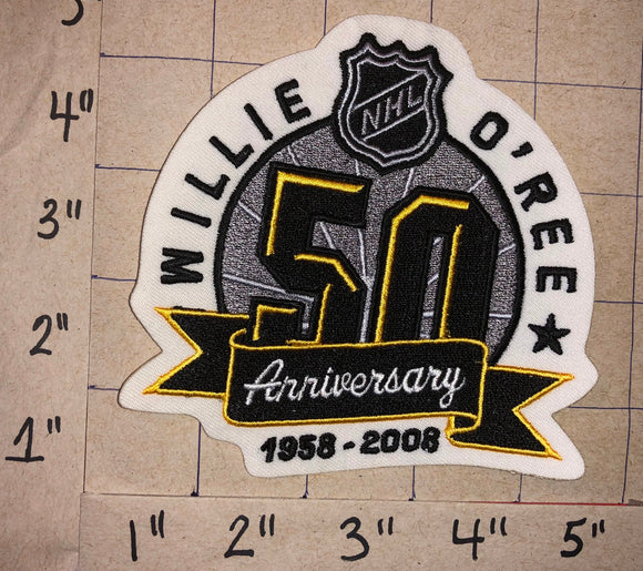 BOSTON BRUINS WILLIE O'REE COMMEMORATE 50 YEARS NHL HOCKEY EMBLEM PATCH