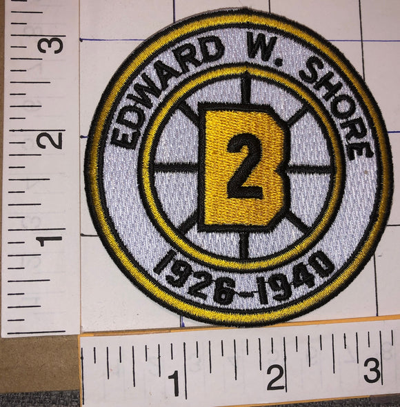 BOSTON BRUINS EDDIE SHORE #2 RETIREMENT 1928-1940 NHL HOCKEY EMBLEM PATCH