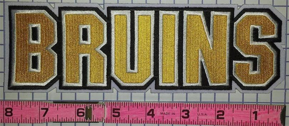 BOSTON BRUINS WRITTEN BAD BRUINS NHL HOCKEY 8 INCH EMBLEM PATCH