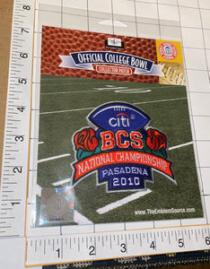 OFFICIAL 2010 CITI BCS BOWL CHAMPIONSHIP PASADENA NCAA COLLEGE PATCH MIP