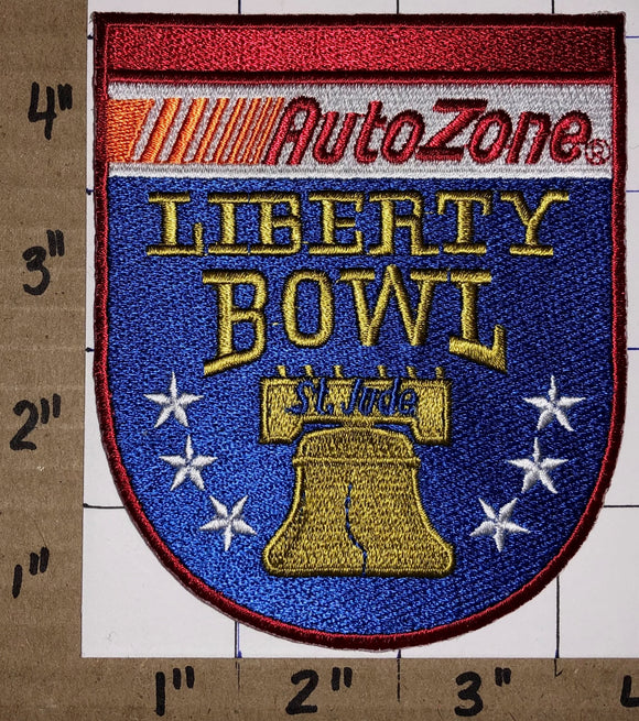LIBERTY BOWL AUTO ZONE NCAA COLLEGE FOOTBALL MEMPHIS EMBROIDERED CREST PATCH