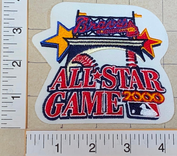 ATLANTA BRAVES 2000 ALL STAR GAME MLB BASEBALL CREST EMBLEM PATCH