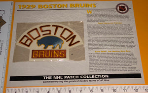 1 OFFICIAL 1929 BOSTON BRUINS NHL HOCKEY WILLABEE & WARD PATCH MIP