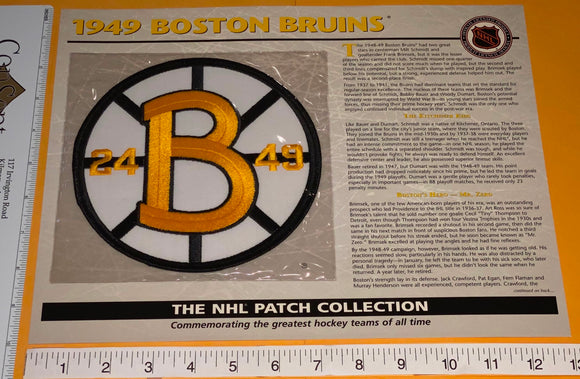 1 OFFICIAL 1949 BOSTON BRUINS NHL HOCKEY WILLABEE & WARD PATCH MIP