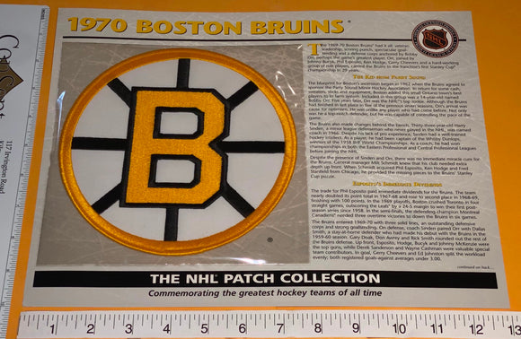 1 OFFICIAL 1970 BOSTON BRUINS NHL HOCKEY WILLABEE & WARD PATCH MIP