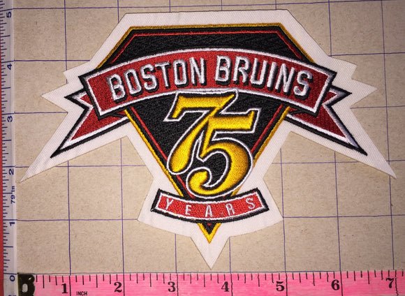 BOSTON BRUINS 75TH ANNIVERSARY NHL HOCKEY EMBLEM CREST PATCH