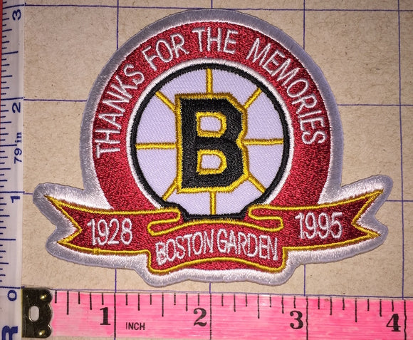 BOSTON BRUINS THANKS FOR THE MEMORIES 1928-1995 BOSTON GARDEN NHL HOCKEY PATCH