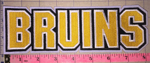 "BOSTON BRUINS 8"" SCRIPT WRITTEN NHL HOCKEY PATCH"