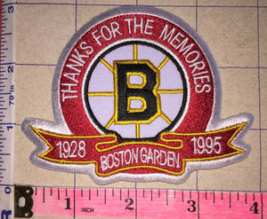 BOSTON BRUINS THANKS FOR THE MEMORIES BOSTON GARDEN 1928-1995 NHL HOCKEY COMMEMORATE PATCH