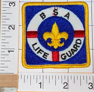1 BSA OF AMERICA LIFE GUARD RESCUE EMBLEM CREST PATCH