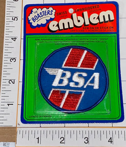 1 RARE VINTAGE BSA MOTORCYCLE BRITISH BIKER NORTON CREST EMBLEM PATCH MIP