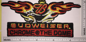 1 BUDWEISER CHROMR THE DOME BEER BREWERY ANHEISER-BUSCH KING OF BEERS PATCH
