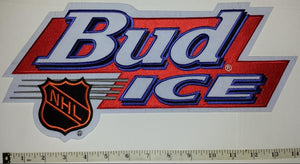"1 HUGE 14"" NHL HOCKEY BUD ICE BUDWEISER BEER BREWERY ANHEISER-BUSCH LAGER PATCH"