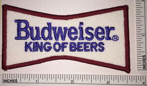 1 BUDWEISER KING OF BEERS BEER BREWERY ANHEISER-BUSCH CREST EMBLEM PATCH