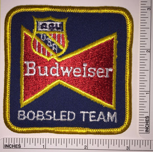 1 BUDWEISER USA BOBSLED TEAM BEER BREWERY ANHEISER-BUSCH KING OF BEERS PATCH