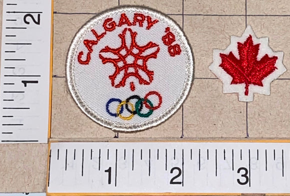 1988 CALGARY WINTER OLYMPICS CANADA EMBLEM CREST PATCH LOT