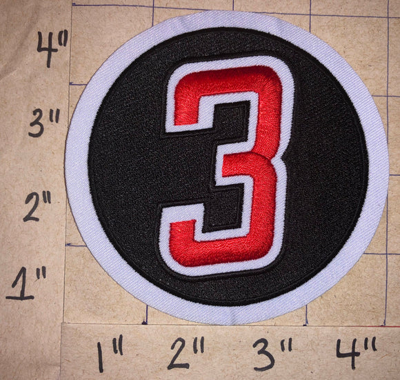 CAROLINA HURRICANES NHL MEMORIAL STEVE CHIASSON #3 JERSEY CREST PATCH