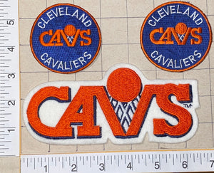 3 CLEVELAND CAVALIERS NBA BASKETBALL CREST EMBLEM EMBROIDERED PATCH LOT
