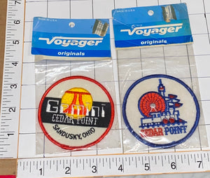 2 GEMINI CEDAR POINT ROLLER COASTER OHIO EMBLEM PATCH LOT MIP