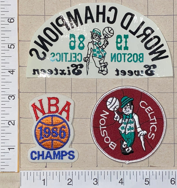 1986 BOSTON CELTICS NBA BASKETBALL CHAMPIONS SWEET SIXTEEN CREST PATCH LOT
