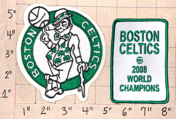 2008 BOSTON CELTICS NBA BASKETBALL WORLD CHAMPIONS CREST EMBLEM PATCH LOT
