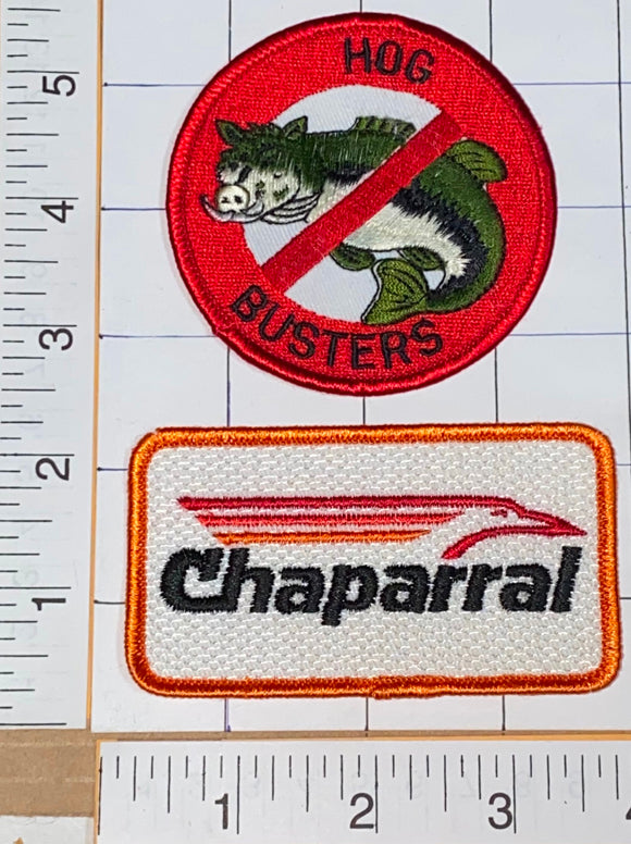 CHAPARRAL FISHING FISHERMAN SPORTSMAN LURE HOG BUSTERS CREST EMBLEM PATCH