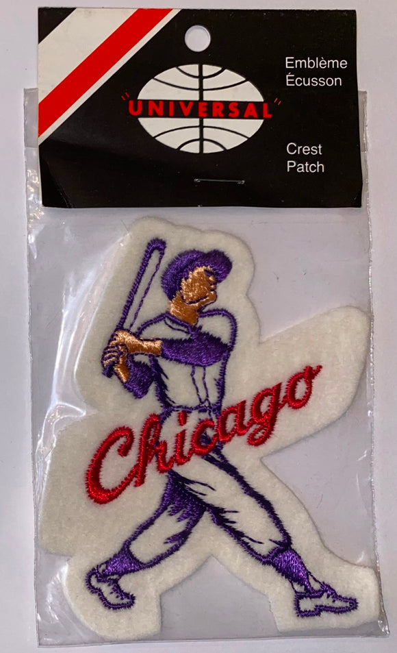 1 VINTAGE CHICAGO CUBS MLB BASEBALL PLAYER CREST PATCH MINT IN PACKAGE