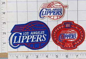 3 VINTAGE LOS ANGELES CLIPPERS SINCE 1984 NBA BASKETBALL SHIELD EMBLEM PATCH