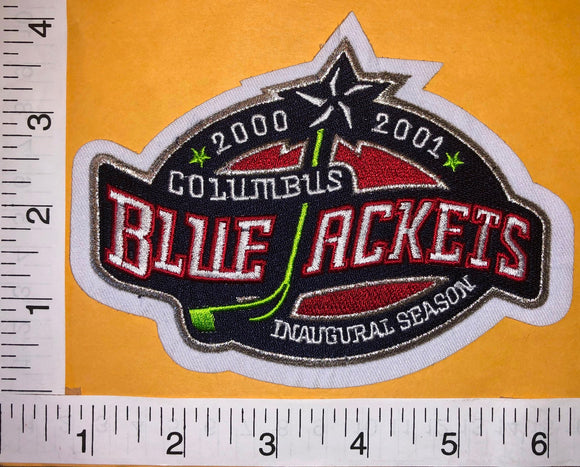 1 COLUMBUS BLUE JACKETS NHL HOCKEY INAUGURAL SEASON 2000-01 EMBLEM PATCH