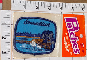 1 CONNECTICUT HARTFORD USA UNITED STATES PATRIOTIC VOYAGER TRAVEL TOURIST PATCH